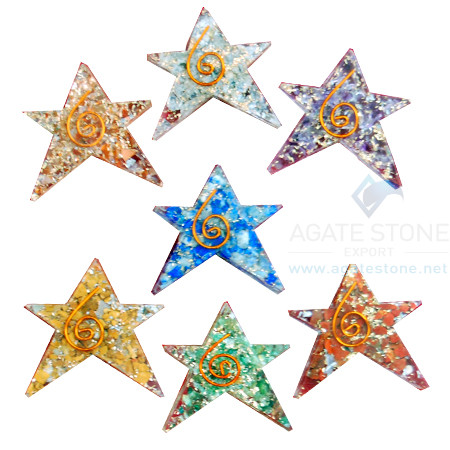 5 Point Star Chakra Orgone Set