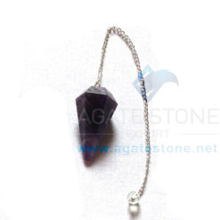 Amethyst Cone Pendulums With Chain