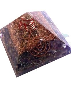 Amethyst Orgone Energy Pyramid With Crystal Point