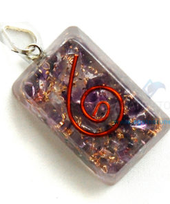 Amethyst Orgone Rectangle Pendant