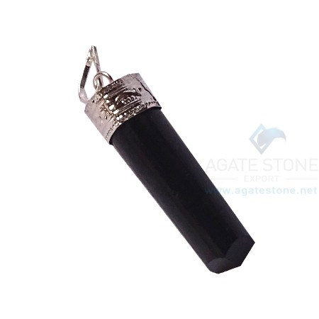 Black Tourmaline Pencil Pendants