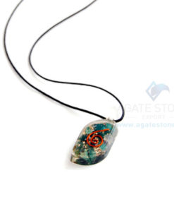 Blood Stone Orgone Eye Pendant With Cord