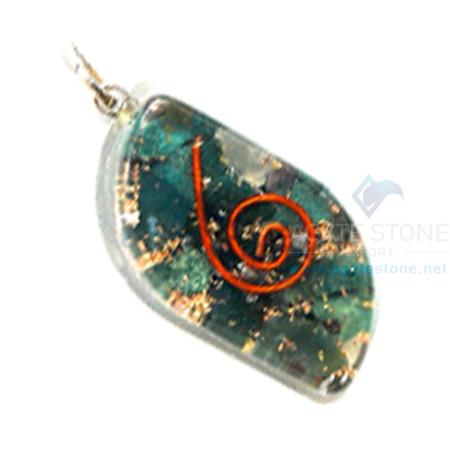 Blood Stone Orgone Eye Pendant
