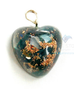 Blood Stone Orgone Heart Pendant