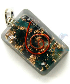 Blood Stone Orgone Rectangle Pendant