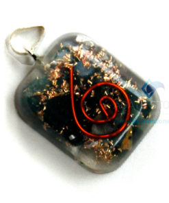Blood Stone Orgone Square Pendant