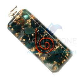 Bloodstone Orgone Long Rectangle Pendant