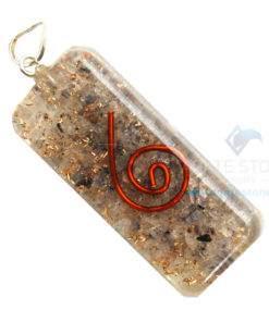 Blue Aventurine Orgone Healing Long Rectangle Pendant