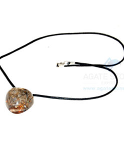Blue Aventurine Orgone Heart Pendant With Cord