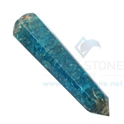 Blue Onyx Orgone Energy Faceted Massage Wands