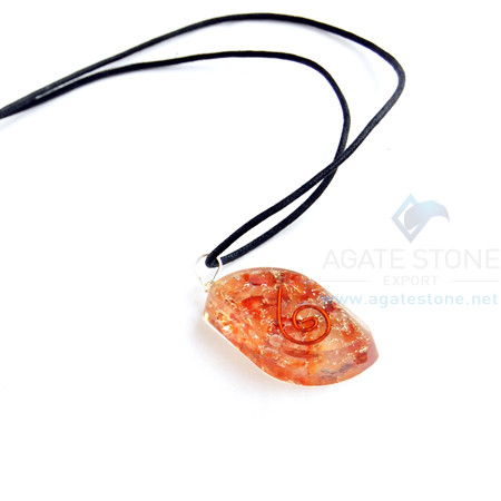 Carnelian Orgone Eye Pendant With Cord