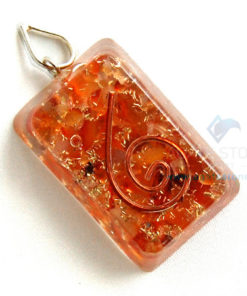 Carnelian Orgone Retangle Pendant