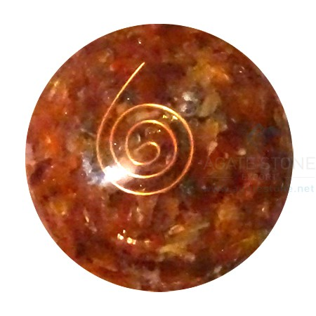 Carnelian Orgonite Ball