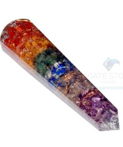 Chakra Layer Orgone Faceted massage wands