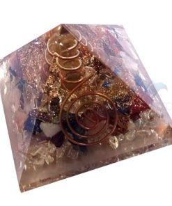Chakra Stone Orgone Pyramid With Crystal Point
