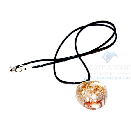 Crystal Orgone Heart Pendant With Cord