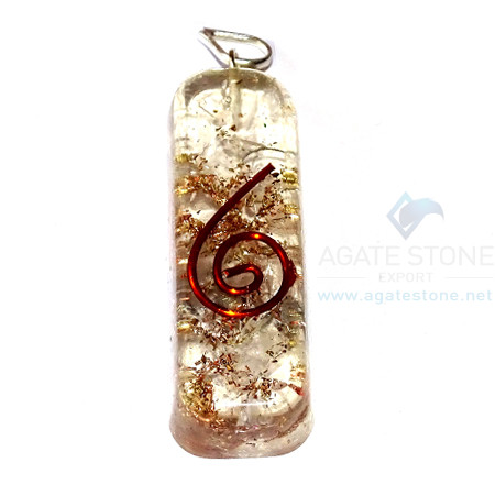 Crystal Orgone Pipe Pendant