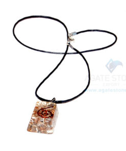 Crystal Orgone Rectangle Pendant With Cord