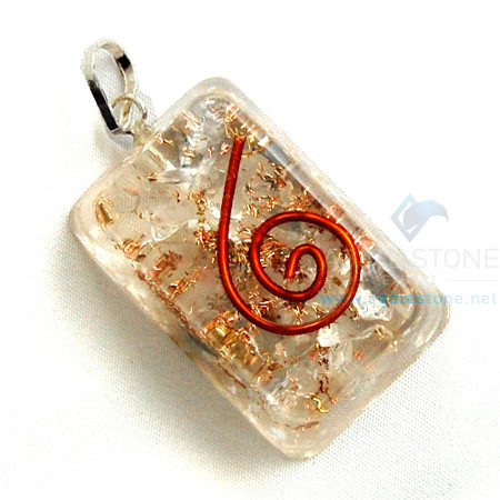 Crystal Orgone Rectangle Pendant