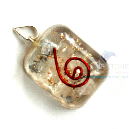 Crystal Orgone Square Pendant