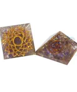 Engraved Crown Chakra Orgone Pyramid