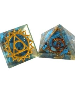 Engraved Third Eye Chakra Orgone Baby Pyramid