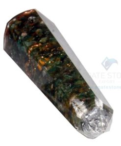 Green Jade Faceted Orgone Massage Wands