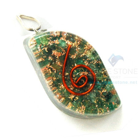 Green Jade Orgone Eye Pendant