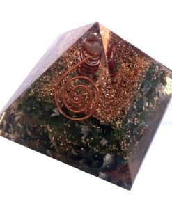Green Jade Orgone Pyramid With Crystal Point