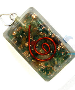 Green Jade Orgone Rectangle Pendant