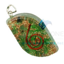 Green Onyx Orgone Eye Pendant