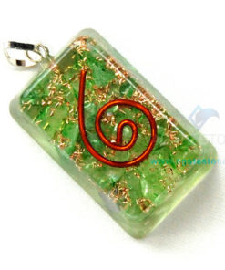 Green Onyx Orgone Rectangle Pendant