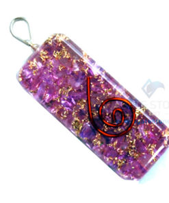 Indigo Onyx Orgone Long Rectangle Pendant