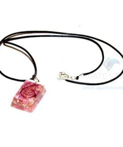 Indigo Onyx Orgone Rectangle Pendant With Cord