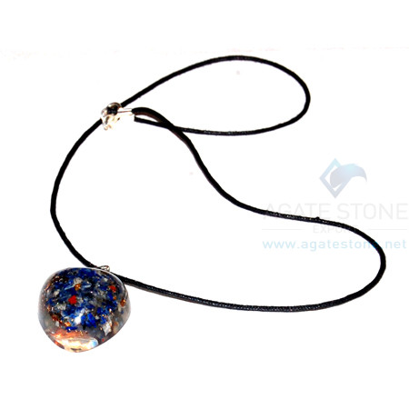 Lapis Lazuli Orgone Heart Pendant With Cord