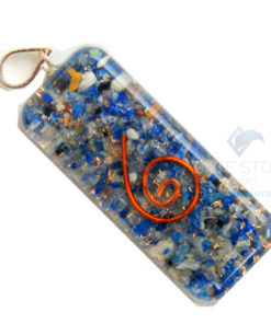 Lapis Lazuli Orgone Long Rectangle Pendant