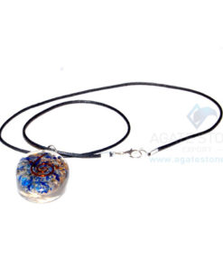 Lapis Lazuli Orgone Oval Pendant With Cord