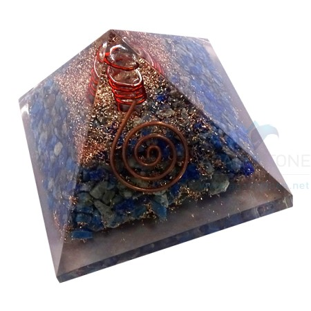 Lapis Lazuli Orgone Pyramid With Crystal Point