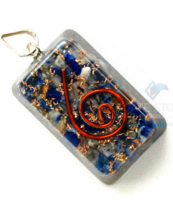 Lapis Lazuli Orgone Rectangle Pendant