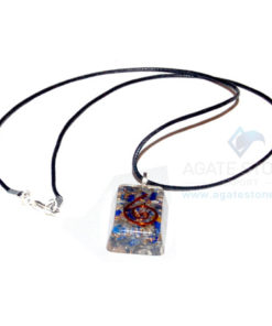Lapis Lazuli Orgone Rectangle Pendant With Cord