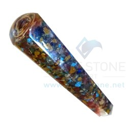 Mix Chakra Faceted Orgone Massage Wands
