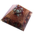 Mix Chakra Stone Orgone Pyramid With Amazonite Merkaba