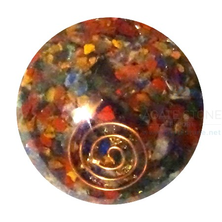 Mix Chakra Stone Orgonite Ball