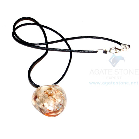 Moon Stone Orgone Heart Pendant With Cord