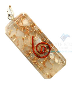 Moon Stone Orgone Long Rectangle Pendant