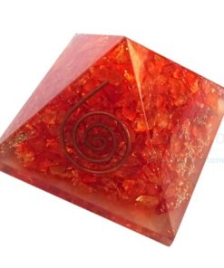 Orange Onyx Orgone Energy Chakra Pyramid