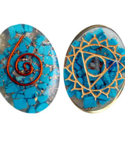 Orgone Engraved Third Eye Chakra Oval Cabochon
