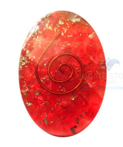 Orgone Red Onyx Energy Oval Cabochon
