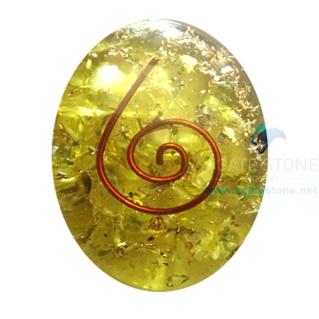 Orgone Yellow Onyx Energy Oval Cabochon