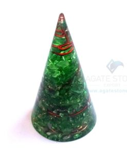Orgonite Green Onyx Energy Cone